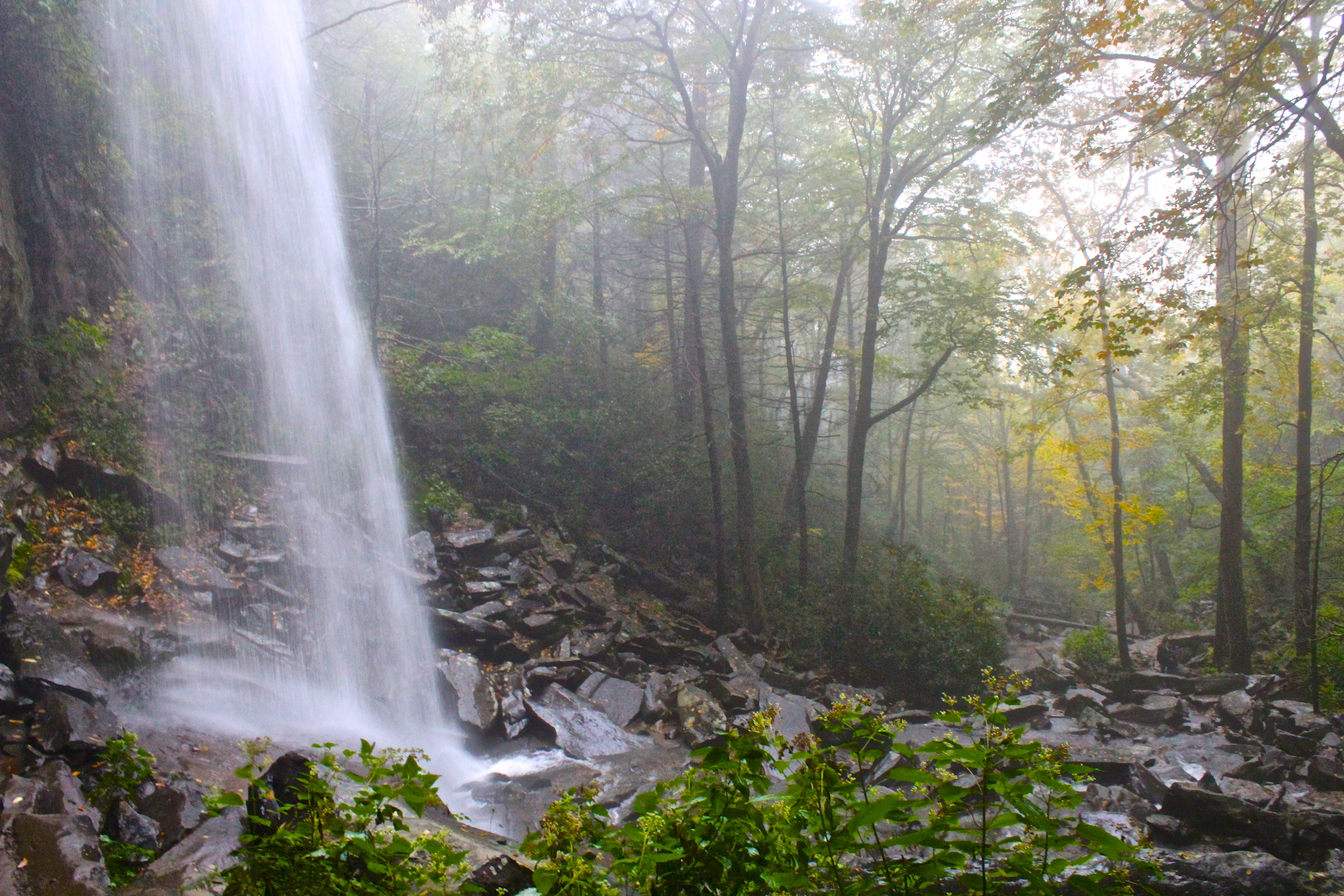 Rainbow Falls in Great Smoky Mountains National Park
