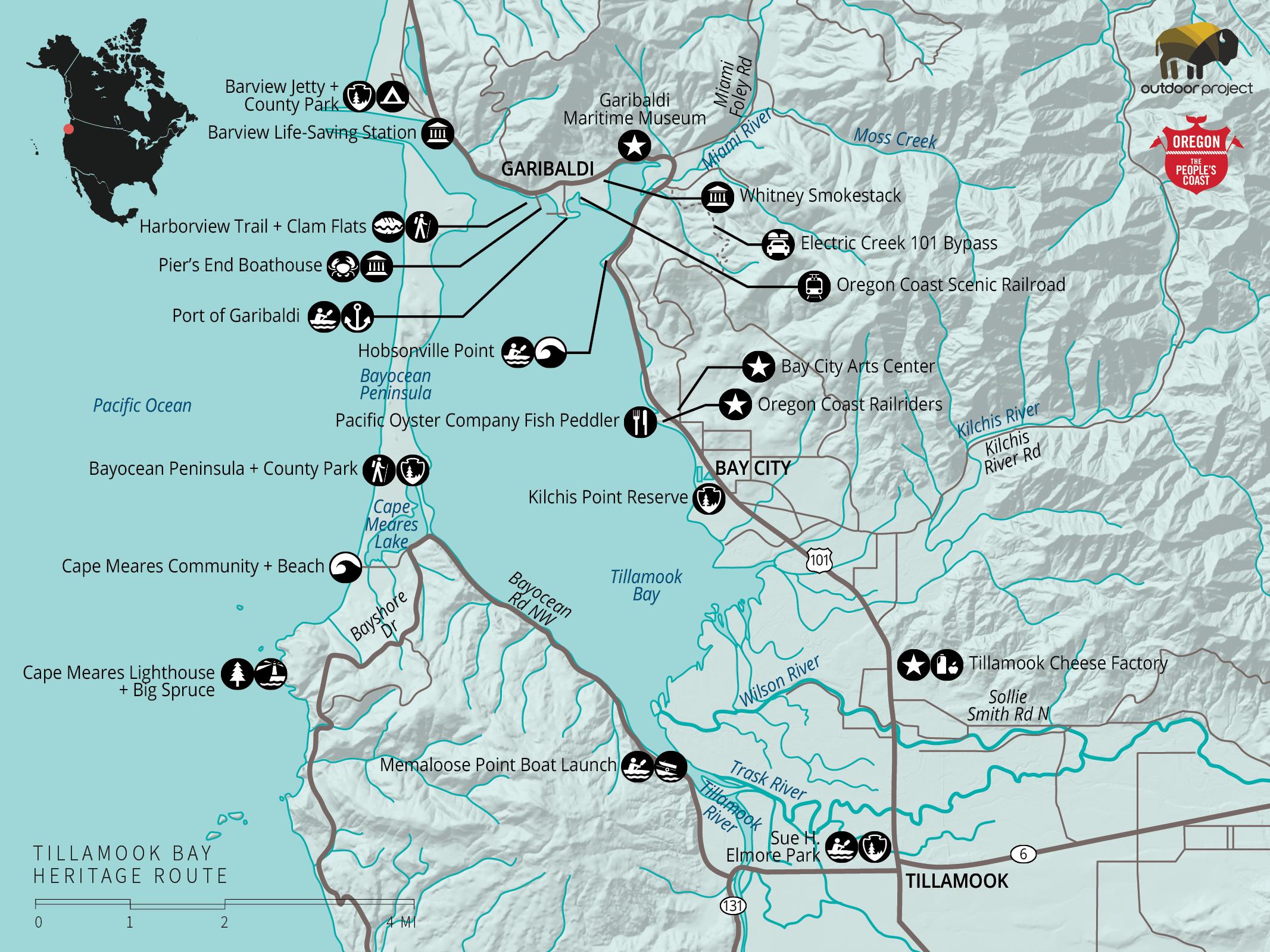 Map Oregon Coast tcnj map