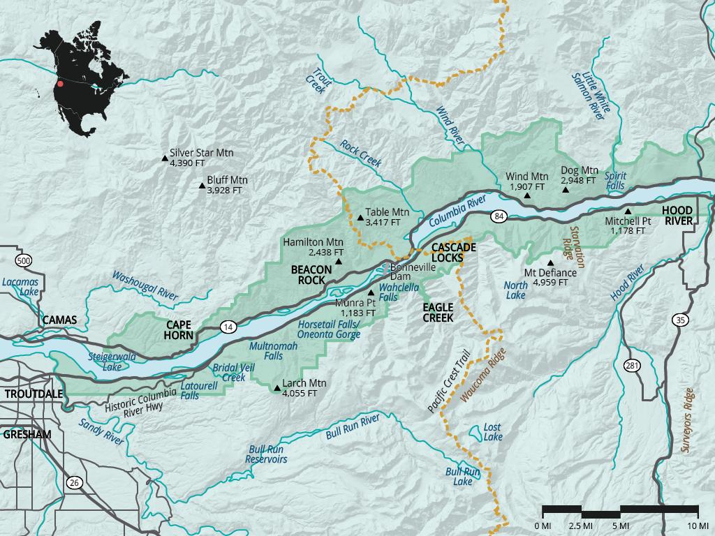 Columbia River Gorge National Scenic Area  Oregon