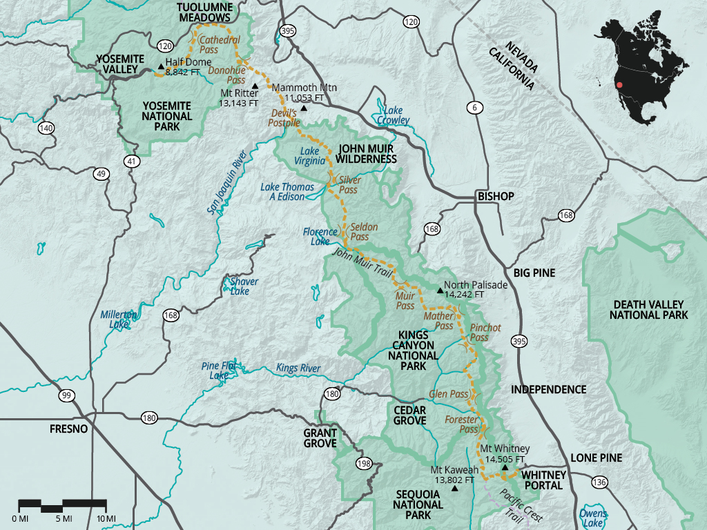 John Muir Trail Jmt Overview Hiking In California