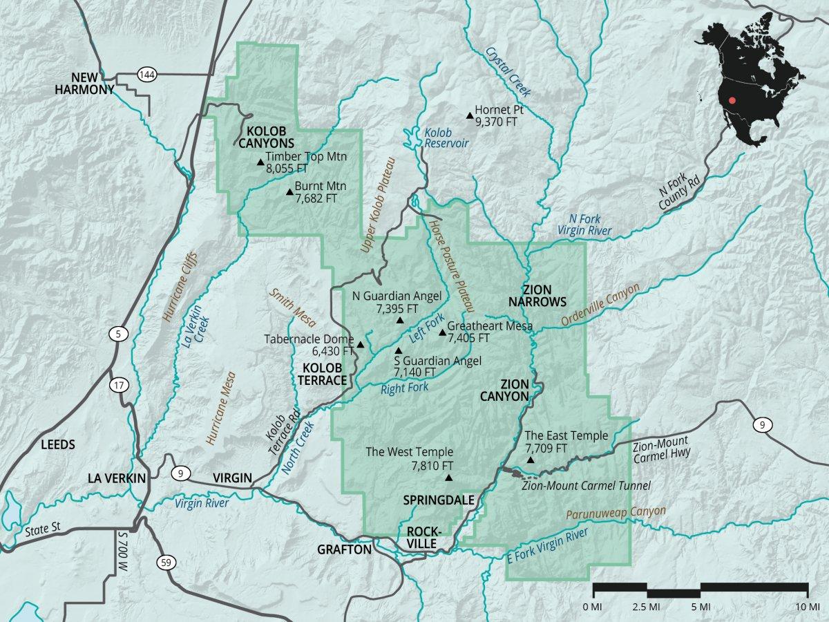 Zion National Park Natural Hazards