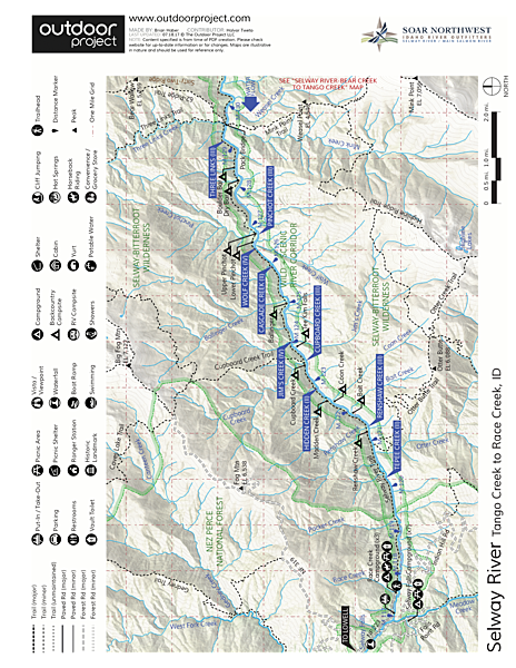 Selway River River Map