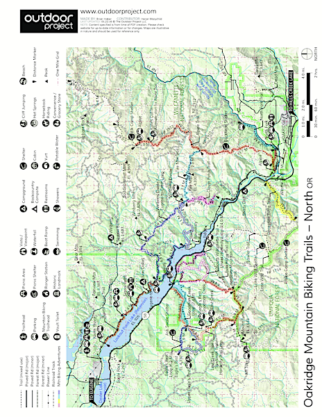 Deception Butte Hike Trail Map