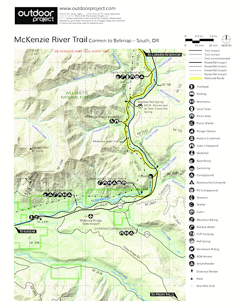 Mckenzie river trail outdoor project mckenzie river trail map publicscrutiny Choice Image