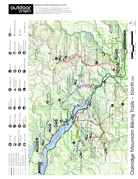 Winberry Divide Trail to Eugene to Crest Trail Loop Map
