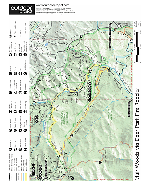 Muir Woods via Deer Park Fire Road | Outdoor Project on golden gate bridge map, green valley map, walnut creek map, marin city map, redwood national park map, willow creek map, san bruno mountain state park map, alibates flint quarries map, san pablo map, montrose map, big sur map, mt. tamalpais cataract trail map, marin county map, cisco grove map, san francisco map, miller woods map, alpine meadows map, sausalito map, carmel by the sea map, lincoln woods map,