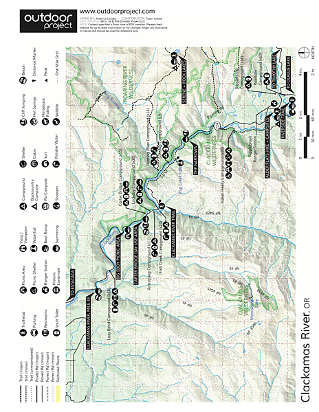 Alder Flats Hike + Campsites Trail Map