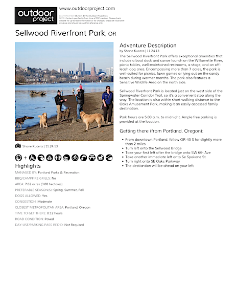 Sellwood Riverfront Park Field Guide