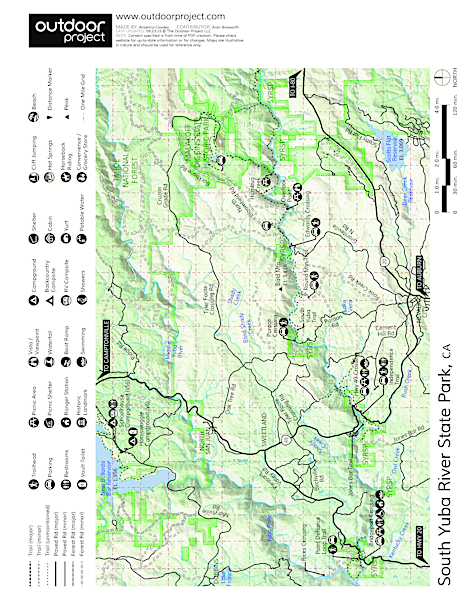 South Yuba River State Park Map