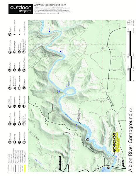 Albion River Campground Map