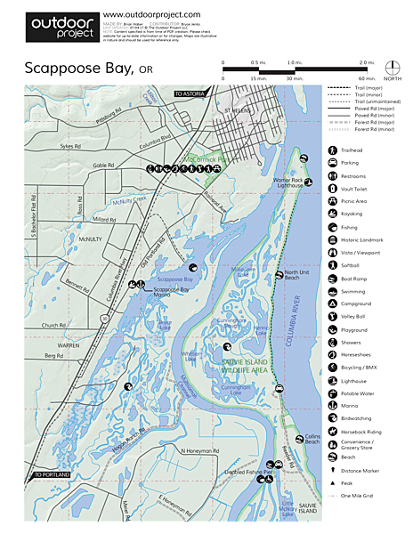 Scappoose Bay Map