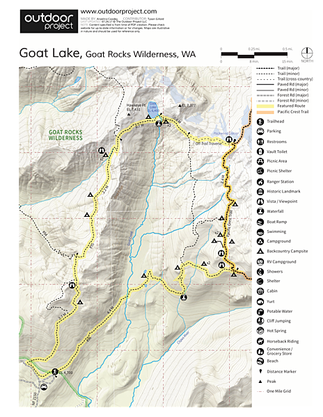 Goat Lake Trail Map