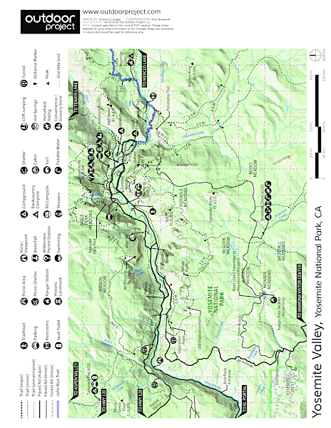 Upper Pines Campground Map