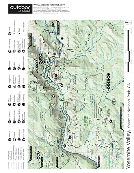 The Ahwahnee Hotel Map