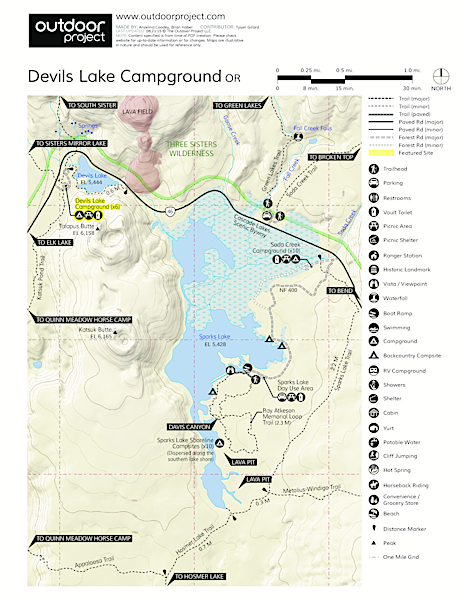 Devils Lake Campground Map