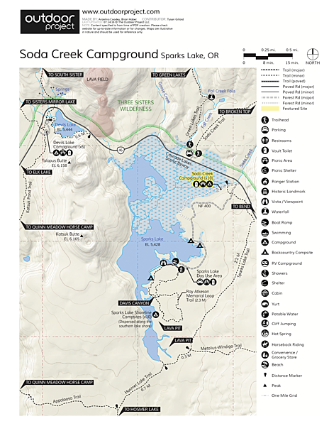 Soda Creek Campground Map