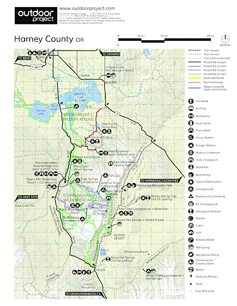 Borax Lake + Borax Lake Hot Springs Trail Map