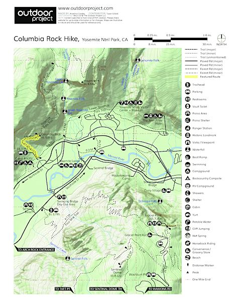 Columbia Rock Hike Trail Map