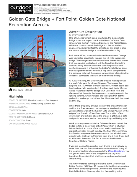 Golden Gate Bridge + Fort Point Field Guide