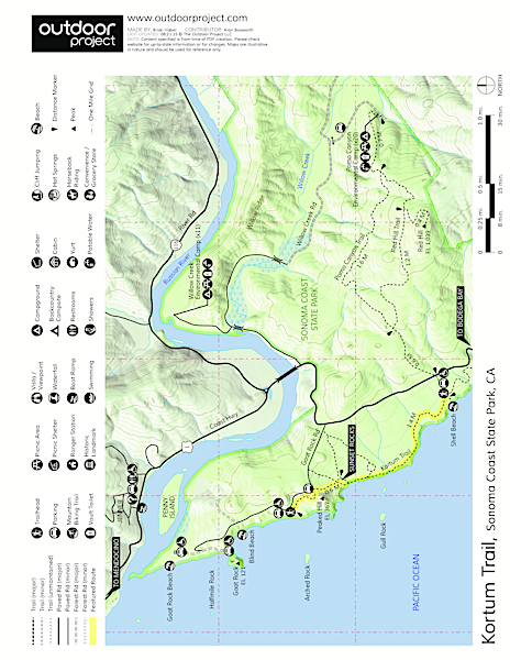 Kortum Trail Trail Map