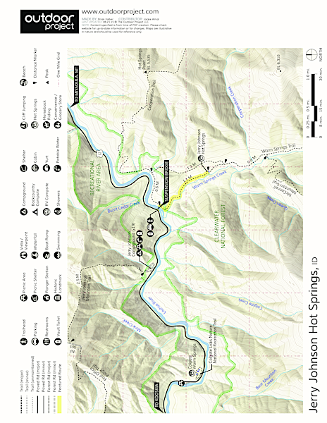 Jerry Johnson Hot Springs Map
