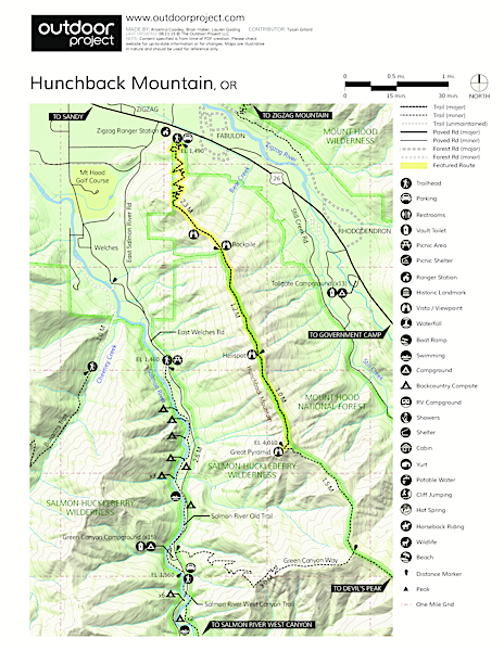 Hunchback Mountain Trail Map