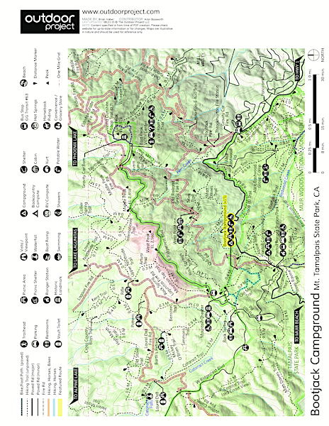 Bootjack Campground Map