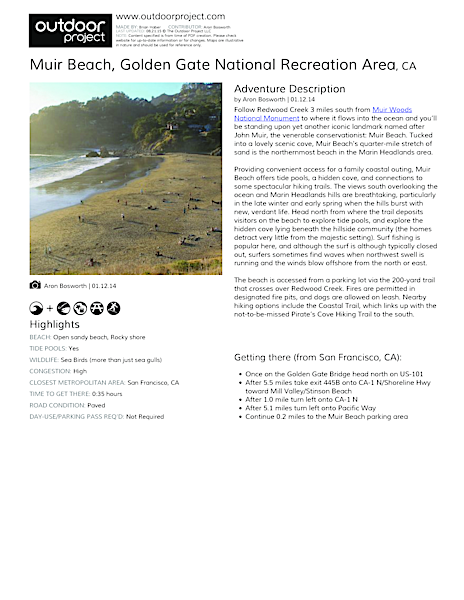 Muir Beach Field Guide