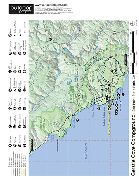 Gerstle Cove Campground Map