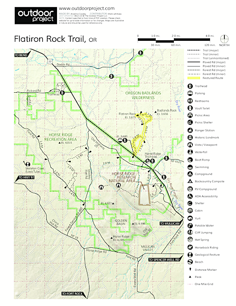 Flatiron Rock Trail Trail Map