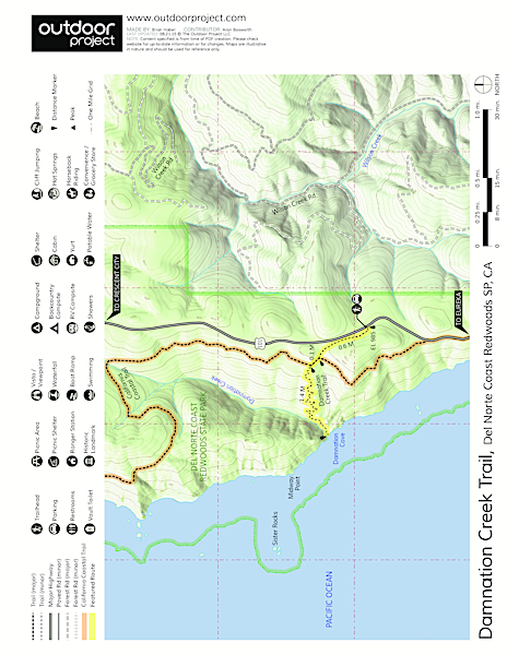 Damnation Creek Trail Trail Map