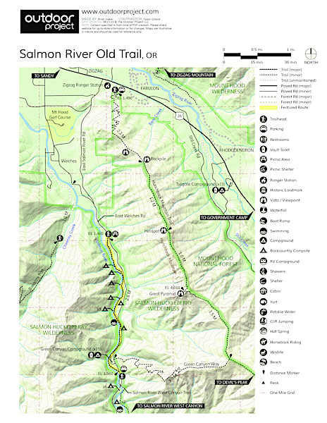 Salmon River, Old Trail Trail Map
