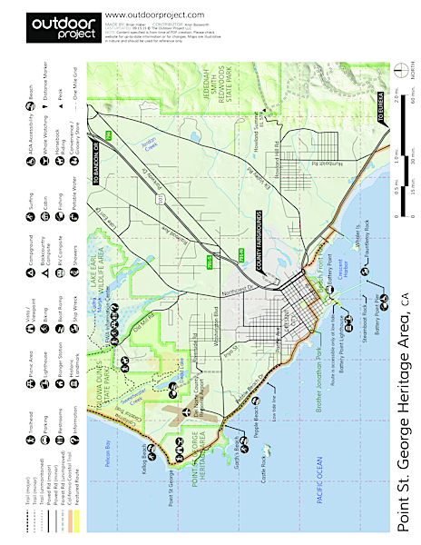 Point St. George Heritage Area Map