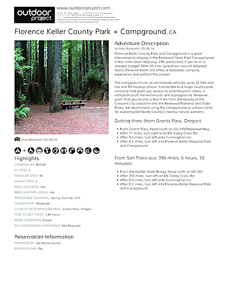 Florence Keller County Park + Campground Field Guide
