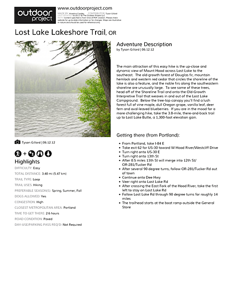 Lost Lake Lakeshore Trail Field Guide