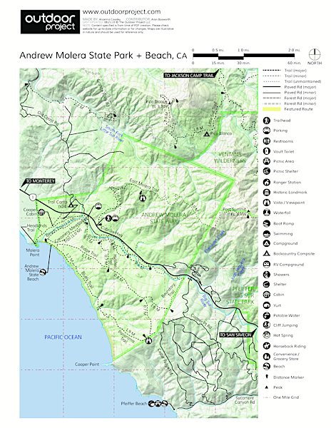 Andrew Molera State Beach Map