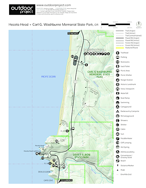 Carl G. Washburne Memorial State Park Campground Map