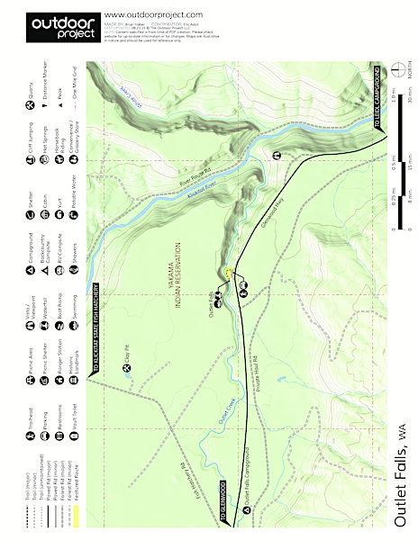 Outlet Falls Trail Map