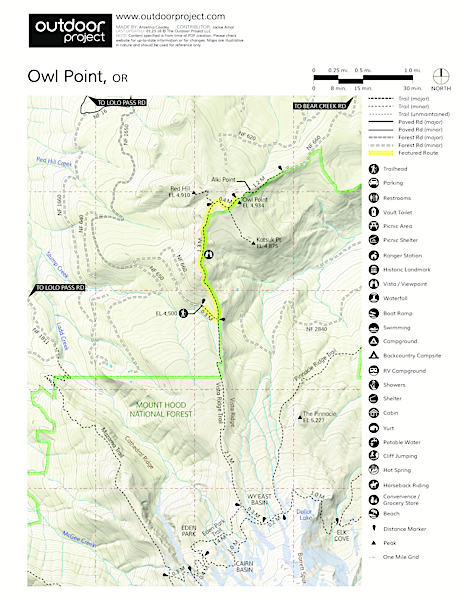 Owl Point Hike Trail Map