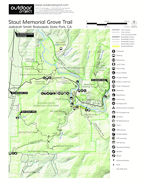 Stout Memorial Grove Trail Map