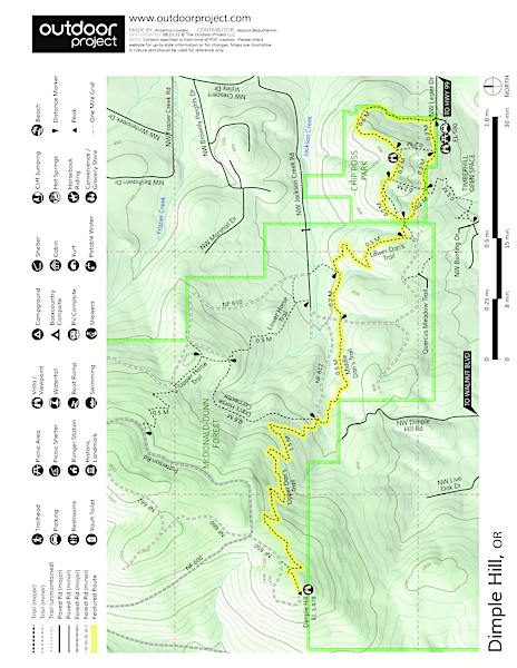 Dimple Hill Trail Map