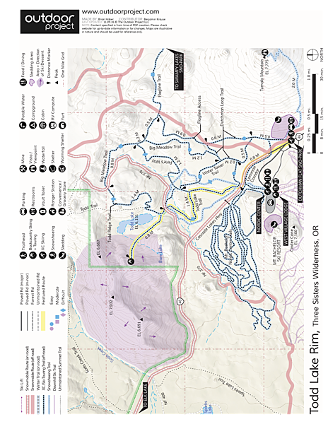 Todd Lake Ridge Map