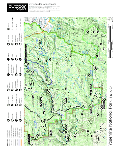 Vogelsang Peak Map