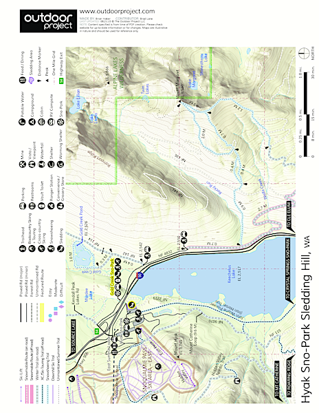 Hyak Sno-Park Sledding Hill Map