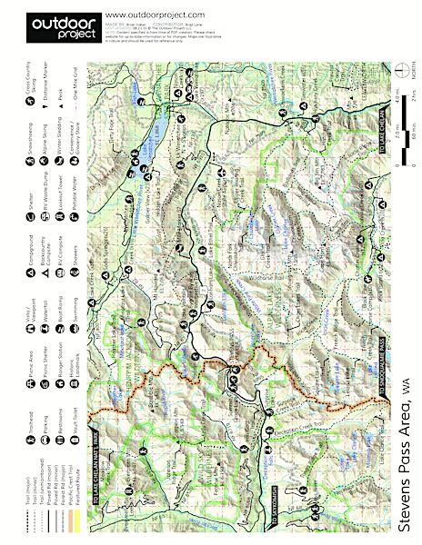 Lake Wenatchee State Park South Loop Map