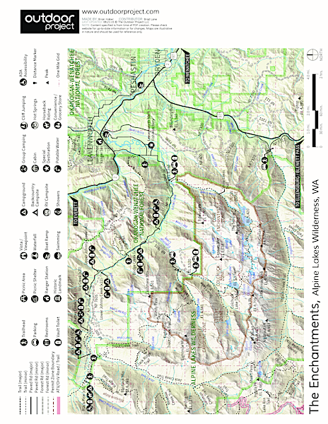 Icicle River Trails Map
