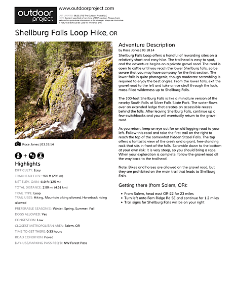 Shellburg Falls Loop Hike Field Guide