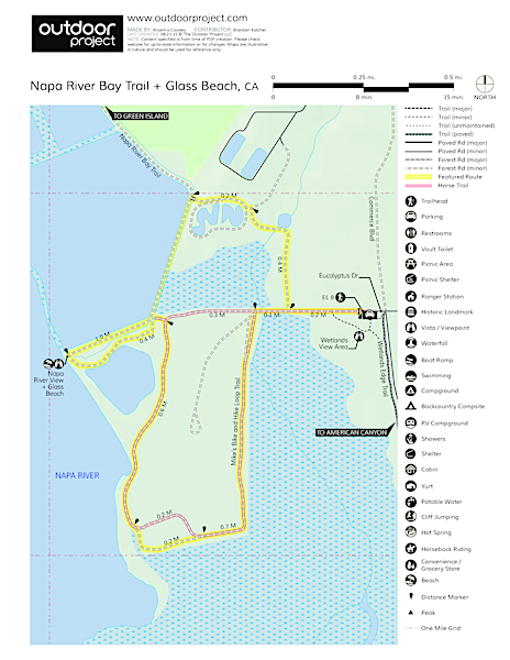 Napa River Bay Trail Glass Beach Outdoor Project