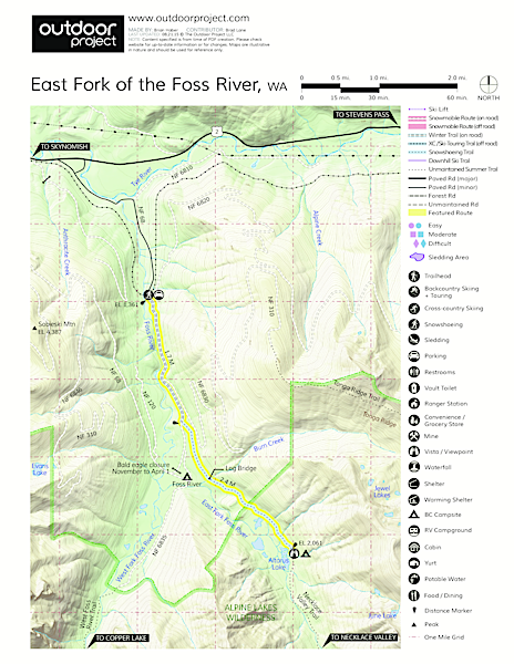 East Fork of the Foss River Map