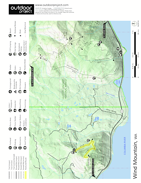 Wind Mountain Trail Map